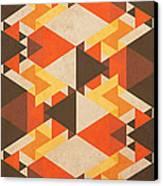 Orange Maze Canvas Print by VessDSign