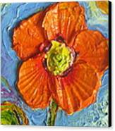 Orange Poppy II Canvas Print by Paris Wyatt Llanso