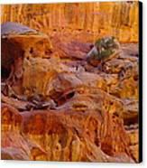 Orange Rock Formation Canvas Print