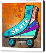 Orange Skate Canvas Print by Gail Lawnicki