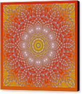 Orange Space Flower Canvas Print by Hanza Turgul