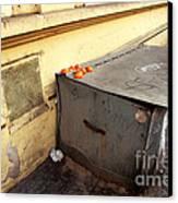 Oranges In Prague Canvas Print by John Rizzuto