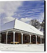 Orchard Park Depot Canvas Print by Peter Chilelli