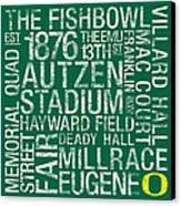 Oregon College Colors Subway Art Canvas Print by Replay Photos