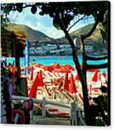 Orient Beach Peek Canvas Print