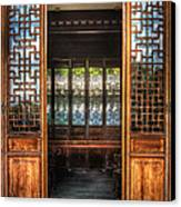 Orient - Door - The Temple Doors Canvas Print by Mike Savad