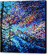Original Abstract Impressionist Landscape Contemporary Art By Madart Mountain Glory Canvas Print
