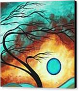 Original Bold Colorful Abstract Landscape Painting Family Joy I By Madart Canvas Print