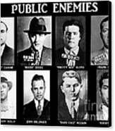 Original Gangsters - Public Enemies Canvas Print by Paul Ward