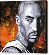 Original Palette Knife Painting Kobe Bryant Canvas Print
