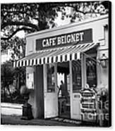 Orleans Cafe Beignet Canvas Print by John Rizzuto