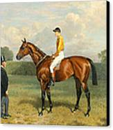 Ormonde Winner Of The 1886 Derby Canvas Print by Emil Adam