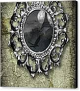 Ornate Metal Mirror Reflecting Church Canvas Print
