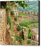 Orvieto Battlement Canvas Print