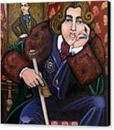 Oscar Wilde And The Picture Of Dorian Gray Canvas Print by Victoria De Almeida