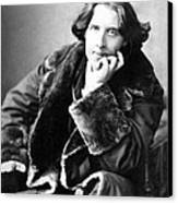 Oscar Wilde In His Favourite Coat 1882 Canvas Print by Napoleon Sarony