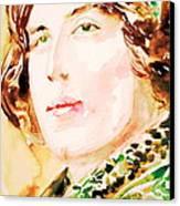 Oscar Wilde Watercolor Portrait.3 Canvas Print