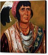 Osceola The Black Drink A Warrior Of Great Distinction By John Travisano After George Catlin Canvas Print by John Travisano