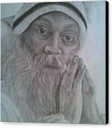 Osho Canvas Print by Milind Badve