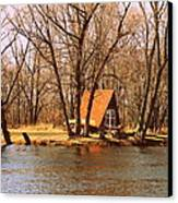 ottage oh the Fox River Canvas Print by Victoria Sheldon
