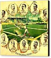 Our Baseball Heroes Canvas Print by Pg Reproductions