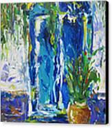 Our Blue Door Canvas Print by Khalid Alzayani