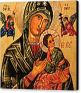 Our Lady Of Perpetual Help Icon II Canvas Print by Ryszard Sleczka