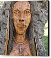 Our Lady Olive Wood Sculpture Canvas Print by Eric Kempson
