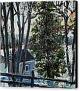 Out Of The Woods At Walden Pond Canvas Print by Rita Brown