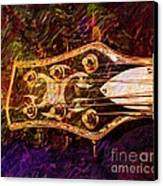 Out Of Tune Digital Guitar Art By Steven Langston Canvas Print