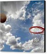 Outdoor Basketball Shot Canvas Print by Lane Erickson