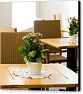 Outdoor Dining Tables Canvas Print