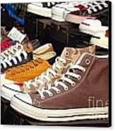 Outdoor Vendor Sells Canvas Shoes Canvas Print