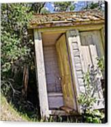 Outhouse For Two Canvas Print