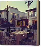 Outside Dining Canvas Print by Laurie Search