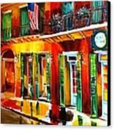 Outside Pat O'brien's Bar Canvas Print by Diane Millsap