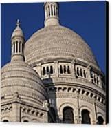 Outside The Basilica Of The Sacred Heart Of Paris - Sacre Coeur - Paris France - 01138 Canvas Print by DC Photographer