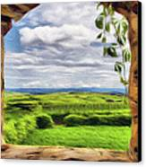 Outside The Fortress Wall Canvas Print by Jeff Kolker