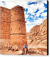 Outside The Walls Of Historic Saint Catherine's Monastery - Egypt Canvas Print by Mark E Tisdale