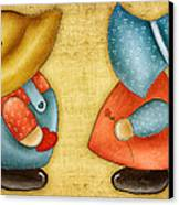 Overall Sam And Sunbonnet Sue Canvas Print by Brenda Bryant