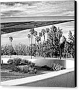 Overhang Bw Palm Springs Canvas Print by William Dey