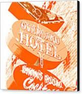 Overland Hotel Canvas Print