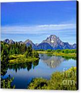 Oxbow Bend Canvas Print by Robert Bales