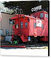 P Town Cafe Caboose Pacifica California 5d22659 Canvas Print by Wingsdomain Art and Photography