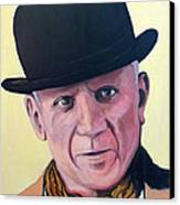 Pablo Picasso Canvas Print by Tom Roderick