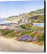 Pacific Coast Hwy Del Mar Canvas Print by Mary Helmreich
