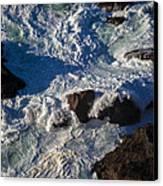 Pacific Ocean Against Rocks Canvas Print by Garry Gay