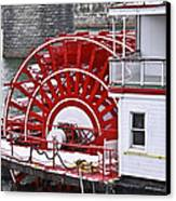 Paddle Wheel Canvas Print by Tom and Pat Cory