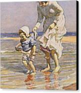 Paddling Canvas Print by William Kay Blacklock