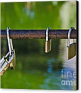 Padlocks Canvas Print by Victoria Herrera